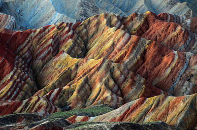 Mountain Royalty-Free and Rights-Managed Images - Rainbow Mountains by Happy Home Artistry