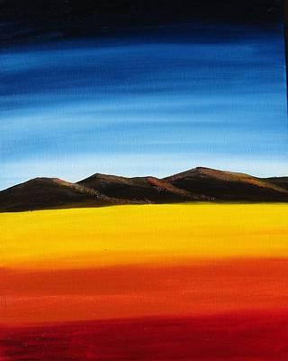Rainbow Mountains Art Print by Liz Vernand