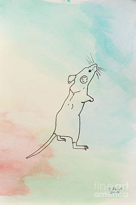 Rainbow Mouse Art Print by Stefanie Forck