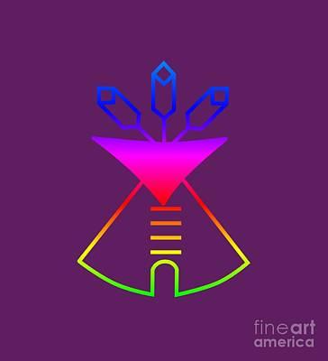 Rainbow Native American Church Symbol Art Print by Frederick Holiday