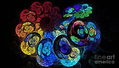 Chakra Rainbow Digital Art - Rainbow Nautilus by Kim Sy Ok