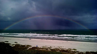 Photograph - Rainbow Near The Shore by David Weeks