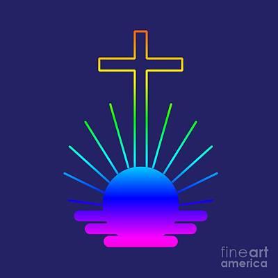 Rainbow New Apostolic Symbol Art Print by Frederick Holiday