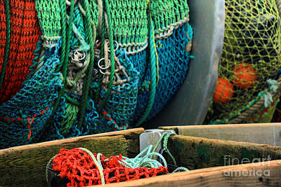 Photograph - Rainbow Of Fishing Nets by Adam Jewell