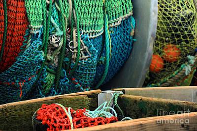 Photograph - Rainbow Of Fishing Nets by Adam Jewell