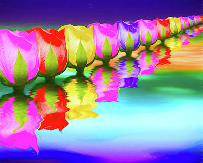 Photograph - Rainbow Of Roses IIi by Tom Mc Nemar