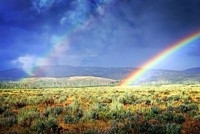 Rainbow On The Sagebrush Art Print