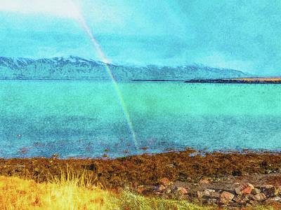 Digital Art - Rainbow On Videy by Frans Blok
