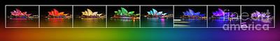 Photograph - Rainbow Opera - Vivid Sydney By Kaye Menner by Kaye Menner