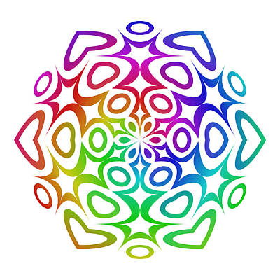 Multicolor Digital Art - Rainbow Ornament by David Zydd