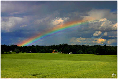 Rainbow Over A Hayfield Original by Wayne King
