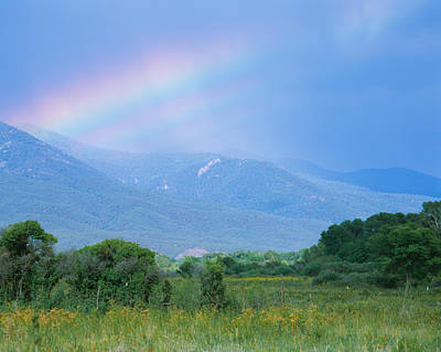 Rainbow Over A Mountain Range, Taos Art Print by Panoramic Images