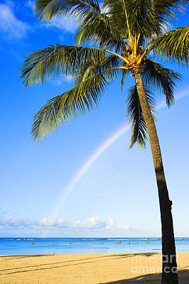 Photograph - Rainbow Over Ala Moana by Dana Edmunds - Printscapes