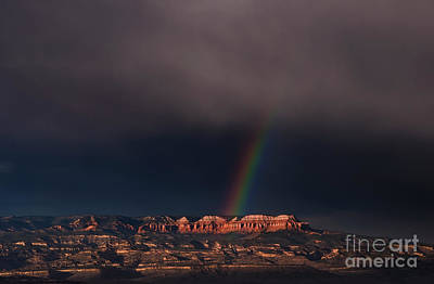 Photograph -  Rainbow Over Aquarius And Hoodoos  Bryce Canyon National Park Utah by Dave Welling