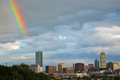Rainbow Over Boston Ma Art Print by Toby McGuire