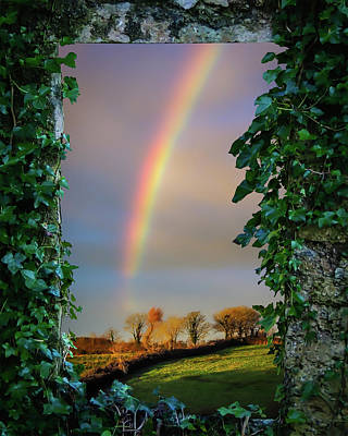 Photograph - Rainbow Over County Clare, Ireland, by James Truett