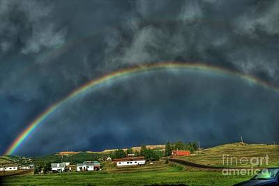 Photograph - Rainbow Over Cripple Creek by Tony Baca
