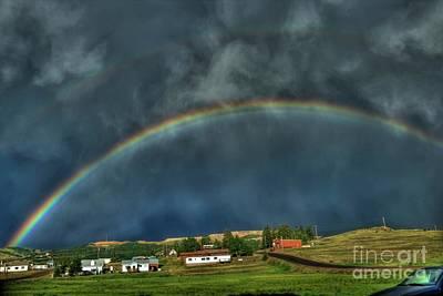 Photograph - Rainbow Over Cripple Creek by Tony Baca