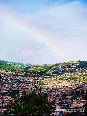 Photograph - Rainbow Over Funchal by Brenda Kean