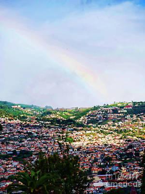 Photograph - Rainbow Over Funchal by Brenda Kean