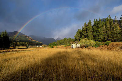 Photograph - Rainbow Over Glen Etive by Sam Smith Photography