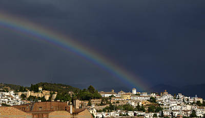 Rainbow Over Granada  Art Print