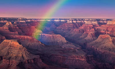 Photograph - Rainbow Over Grand Canyon by Ericamaxine Price