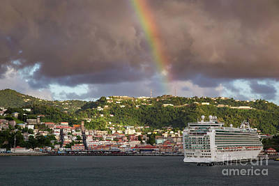 Photograph - Rainbow Over Grenada by Brian Jannsen