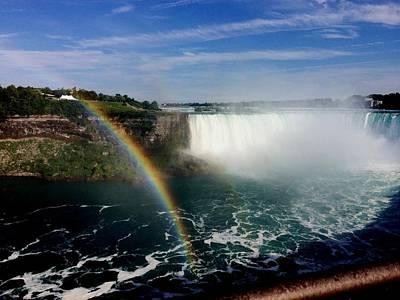 Photograph - Rainbow Over Horseshoe Falls by Charlene Reinauer