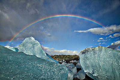 Photograph - Rainbow Over Icebergs by Stuart Litoff