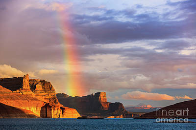 Cookie Jar Wall Art - Photograph - Rainbow Over Lake Powell by Henk Meijer Photography