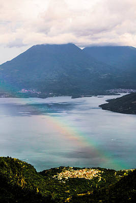 Photograph - Rainbow Over Lakes And Mountains by Shelby  Young