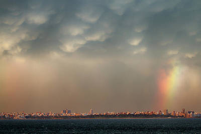Photograph - Rainbow Over Montevideo by John Haldane