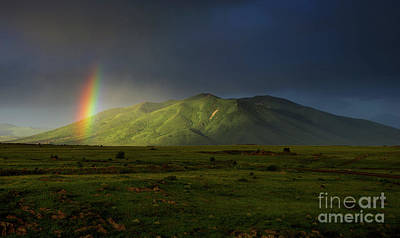 Photograph - Rainbow Over Mount Ara After Storm, Armenia by Gurgen Bakhshetsyan