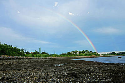 Photograph - Rainbow Over Nut Island And Wollaston Beach by Toby McGuire