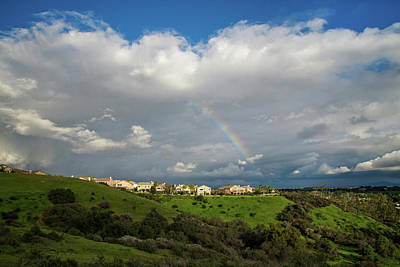 Photograph - Rainbow Over Porter Ranch 2 by Lynn Bauer