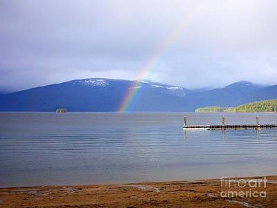 Photograph - Rainbow Over Priest Lake by Carol Groenen