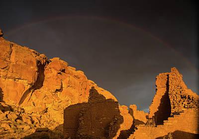 Photograph - Rainbow Over Pueblo Del Arroyo by Kunal Mehra