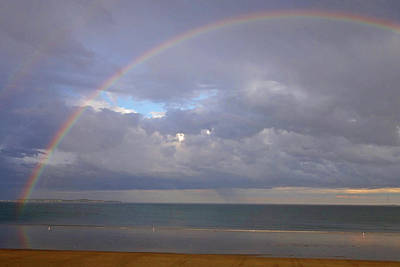 Photograph - Rainbow Over Revere Beach North Shore by Toby McGuire