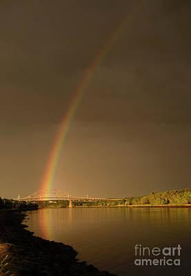 Rainbow Over Sagamore Bridge, Cape Cod Art Print by Michelle Himes