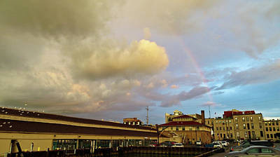 Photograph - Rainbow Over Sandusky 2 by Shawna Rowe