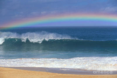 Photograph - Rainbow Over Shore by Ali ONeal - Printscapes