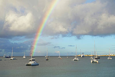 Sint Maarten Photograph - Rainbow Over Simpson Bay Saint Martin Caribbean by Toby McGuire