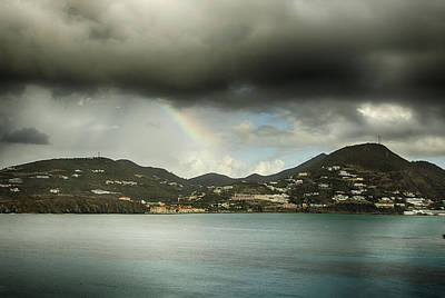 Photograph - Rainbow Over St. Maarten by Coby Cooper