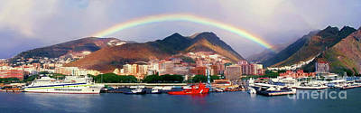 Photograph - Rainbow Over Tenerife Panoramic by Sue Melvin