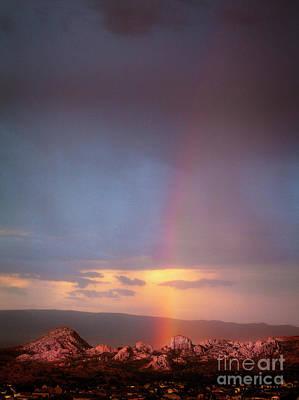 Rainbow Over The Dells Art Print by Scott Kemper