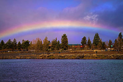Photograph - Rainbow Over The Deschutes by Lynn Bauer