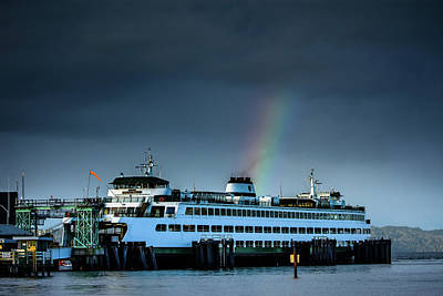 Photograph - Rainbow Over The Ferry by Michael McAuliffe