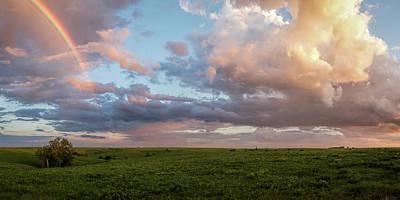 Photograph - Rainbow Over The Flint Hills Pano by Scott Bean