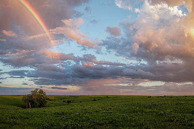 Photograph - Rainbow Over The Flint Hills by Scott Bean